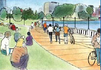 Lake Merritt Path Artist's Rendering