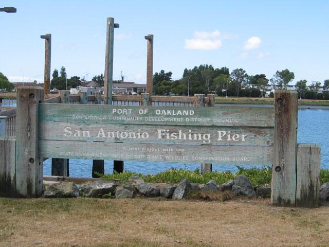 Embarcadero area shoreline for Fishing near san antonio